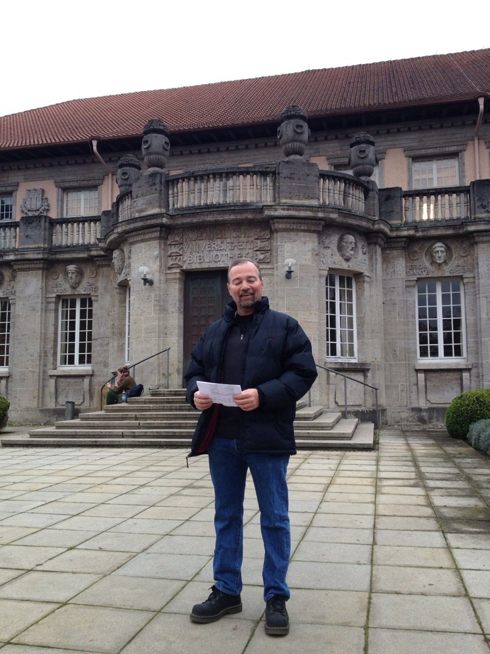 Victor Prince at University of Tubingen Library