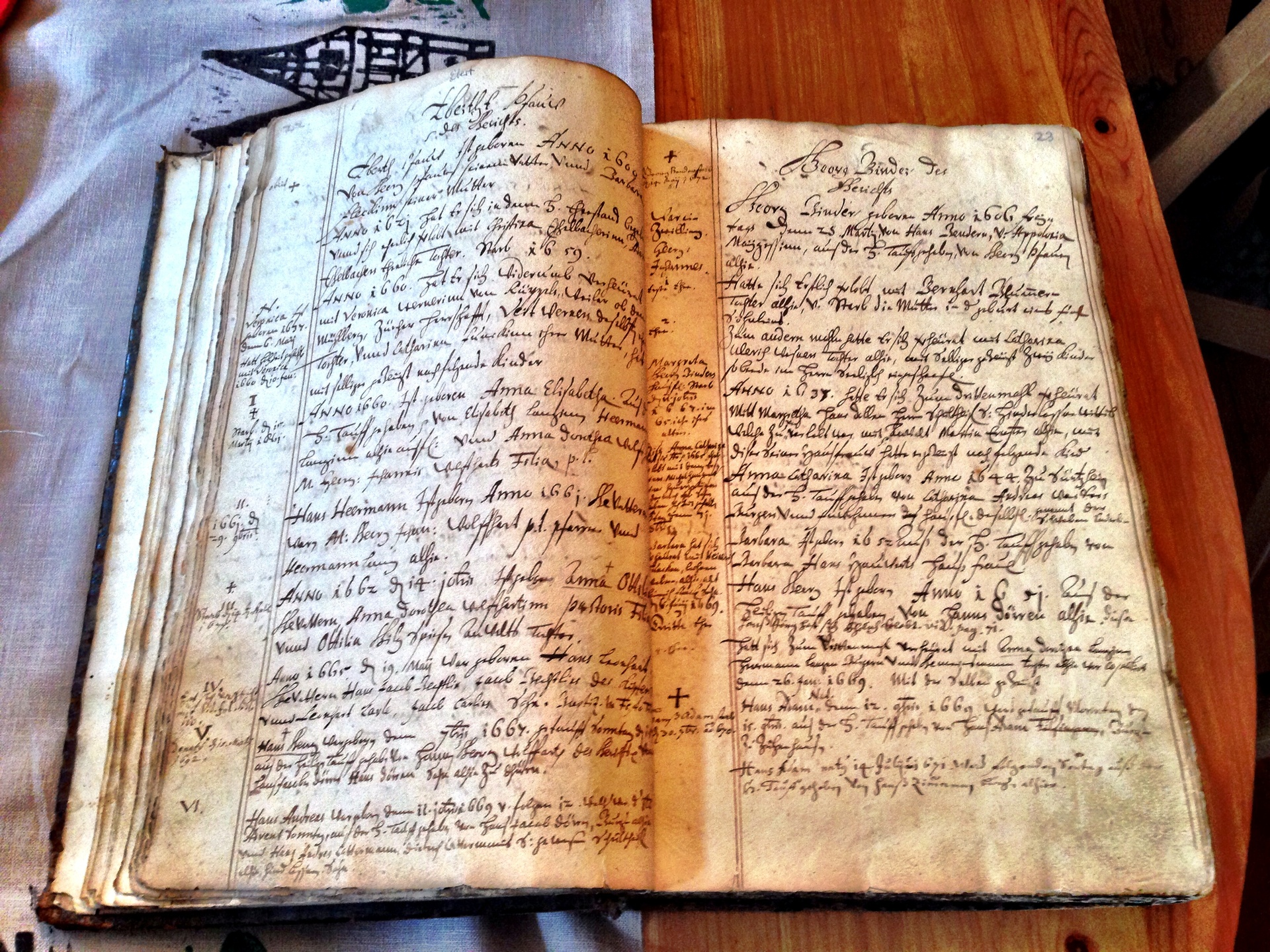 Church Book from 1600s